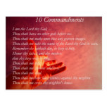 10 Commandments  Postcard