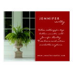 311 Real Estate Postcards Green Fern House Red