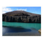 Beautiful Icelandic Landscape with Mountains Postcard