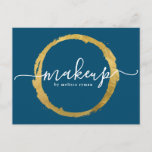 Blue and Gold Makeup Artist Postcards