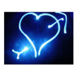 Blue Light Heart  Postcard