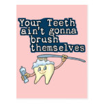 Brush your teeth! postcard