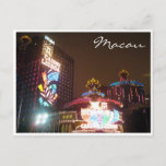 casino lights macau postcard