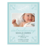 Charming Vintage Baby Announcement (baby blue) Postcard
