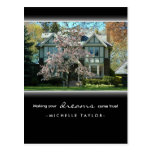 Cherry Blossom Tree Real Estate House Postcard