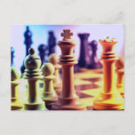 Chess Game Postcard