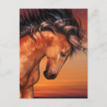 Chestnut Unicorn  Postcard