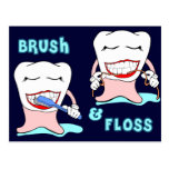 Dentist and Dental Hygienist Postcard