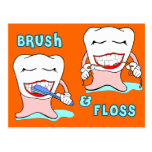 Dentists and dental hygienists humor postcard