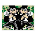 Double The Luck Leprechaun Postcard