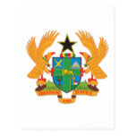 Ghana Coat Of Arms Postcard