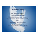 Hail Mary Prayer Postcard