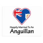Happily Married Anguillan Postcard