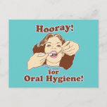 Hooray for Oral Hygiene Postcard