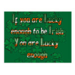If You are Luck Enough to be Irish Postcard