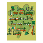 If You Are Lucky Enough to be Irish Postcard