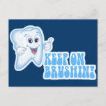 Keep On Brushin! Postcard