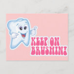 Keep On Brushing Postcard