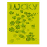 Lucky HorseShoe Shamrocks Postcard