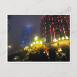macau casino lights postcard