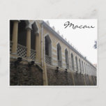 macau moorish barrack postcard