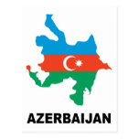 Map Of Azerbaijan Postcard