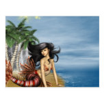 Mermaid on Beach Postcard