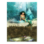 Mermaid on Ocean Floor  Postcard
