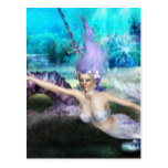 Mermaid Swimming Postcard