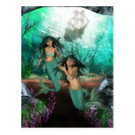 Mermaid Twins Postcard