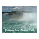 niagara boat greetings postcard