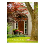 Real Estate House Home Entrance Wood Door Real Est Postcard