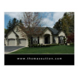 Real Estate Postcards Beige Stucco House 2