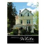 Real Estate Postcards Tall Yellow House V