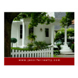 Real Estate Postcards White Green House Red 2