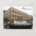 senado fountain macau postcard