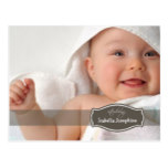 Simply Elegant (chocolate) Baby Birth Announcement Postcard