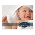 Simply Elegant (midnight) Baby Birth Announcement Postcard