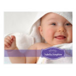 Simply Elegant (purple) Baby Birth Announcement Postcard