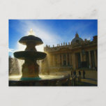 vatican fountain postcard