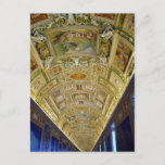 vatican gallery maps postcard