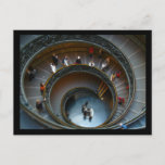 vatican stairs postcard