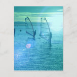 Windsurfing Design Postcard